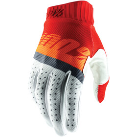 100% Ridefit FA18 Guantes, red/fluo orange/slate blue